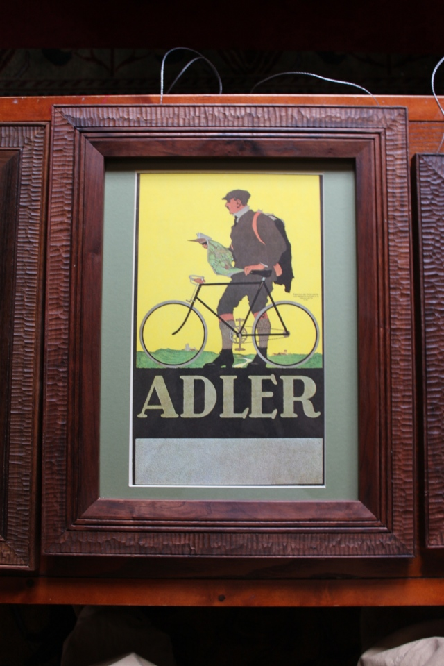 Alder print with walnut frame - $175
