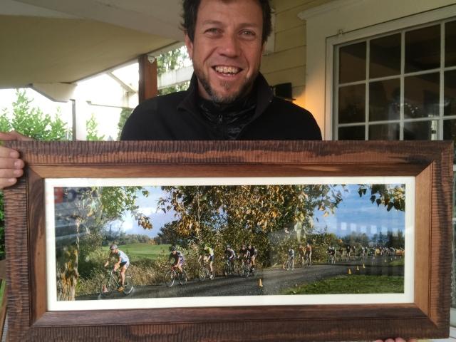 Masala print walnut frame